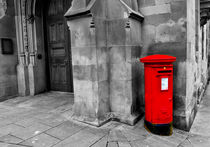 British Red Post Box by Buster Brown Photography