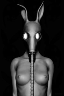 Bunny Gas Mask  by Oliver Schümann