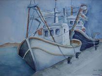 Fischerboote von Maria Földy