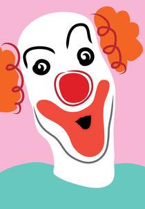 Portrait of a clown by Sofia Wrangsjö