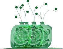 Green Jugs by Iris Gelbart