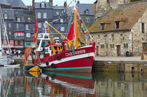 The historic fishing village of Honfleur, France. by Louise Heusinkveld