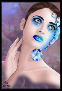 Blue Flowers by Aislin Thespian