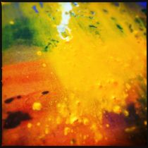 Paintscape: Yellow Splash von Kate England