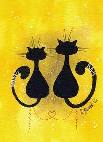 Cats in Love by Anna Bieniek