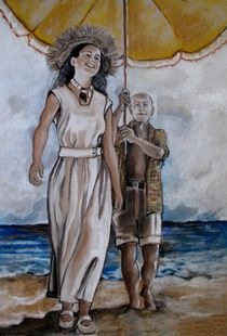'Francoise Gilot und Pablo Picasso' by Marion Hallbauer