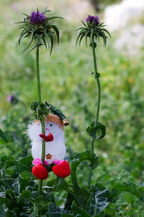 The Toy Snowman  in the Wood by Larisa Kroshkin