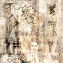 Collage Paris von Christine Lamade