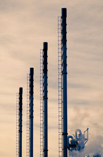Smokestacks by Lars Hallstrom