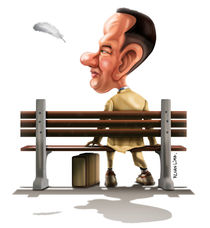 Forrest Gump Caricature by Renan Lima