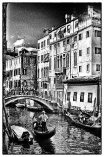 Blick auf eine Kanalbrücke von Matthias Töpfer