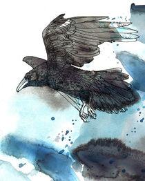 Crow blue von Sabine Israel