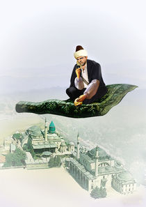 Sheikh on Magic Carpet with iPhone von Mohamed El-Fers