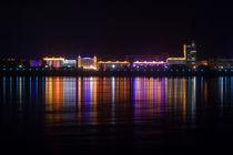 Heihe City Night View von Stas Kulesh