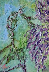 Purple Wisteria Abstract 2 by Warren Thompson