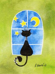 Cat in the window von Anna Bieniek
