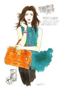 Fashion Postcard von Anna Bieniek