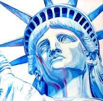 statue of liberty painting by André Bongard