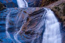 Golden blue waterfall by Maciej Markiewicz