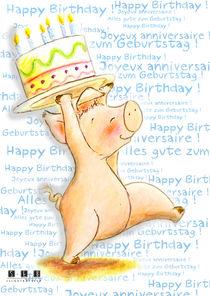 Alles gute zum Geburtstag ! Happy Birthday ! Joyeux anniversaire ! Schwein, Cochon, Pig von sarah-emmanuelle-burg