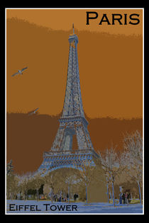 Eiffel Tower Poster by David Pringle