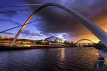 Millenium Bridge Sunset  by Rob Hawkins