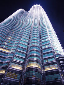 Petronas towers in Kuala Lumpur by Wilma Traldi