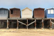 Beach Huts, Dovercourt, Essex by Martin Williams