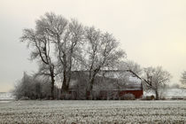 Scheune im Winter - Barn in winter von ropo13