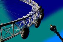London Eye Digital Image by David Pyatt