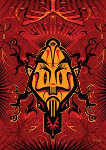 Shaman Mask - Antler by Ken  Rinkel