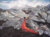 Lava in Hawaii. by Monika wisberger