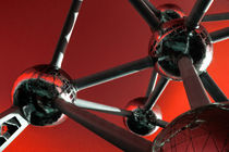 The Atomium in Red  by Rob Hawkins