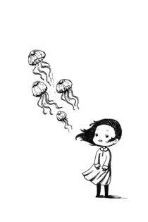 Girl and the Jellyfish by freeminds