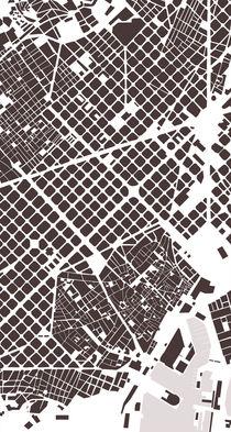 Barcelona map von Gytaute Akstinaite