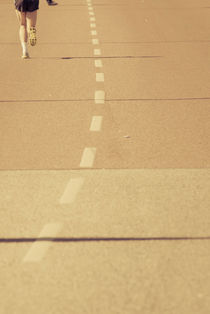 One man marathon by Lars Hallstrom