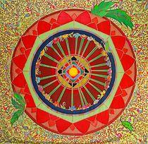 Mandala Himmelsblume von Lydia  Knauf