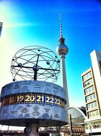 weltzeituhr berlin by Rosemarie Rosenroth