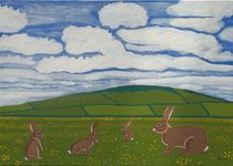 Rabbits in the countryside by Eamon Reilly