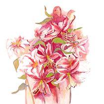 Pink Stargazer Lilies von Elisabeth Wakeford