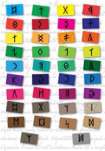 Hungarian runic writing by Kinga David