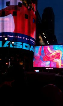 Art Takes TIme Square 2 by John Powell