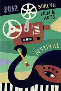Brooklyn Film and Arts Festival Poster von Benjamin Bay