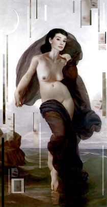 Audrey Hepburn  nude Moonlight sonata by Karine PERCHERON DANIELS