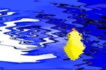 Blaues Badewasser. von Bernd Vagt