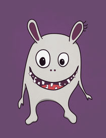 Funny Crazy Monster With Cracked Teeth by Boriana Giormova