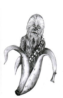 Chewbacca Banana by Ron McNeil