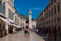 Main street Dubrovnik by Alberto Vaccari