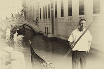 Venice Gondolier  by Ian C Whitworth