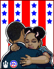 DEMOCRATIC CAMPAIGN 2012: OBAMA'S EMBRACE by solsketches